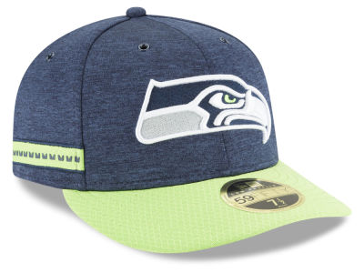 Seattle Seahawks New Era 2018 Official NFL Sideline Low Profile Home 59FIFTY Cap