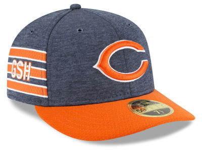 buy popular 41327 30926 Chicago Bears New Era 2018 Official NFL Sideline Low Profile Home 59FIFTY  Cap