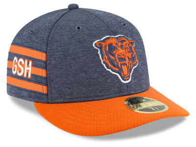 huge discount 70423 ad8c2 ... get chicago bears new era 2018 official nfl sideline low profile home  59fifty cap 806cd dd91e