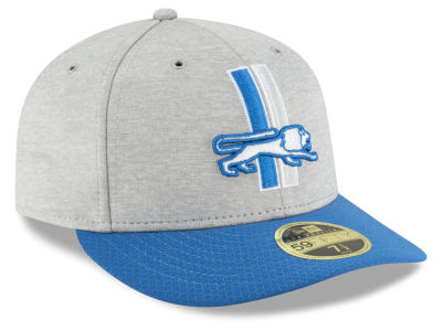 Detroit Lions New Era 2018 Official NFL Sideline Low Profile Home 59FIFTY Cap