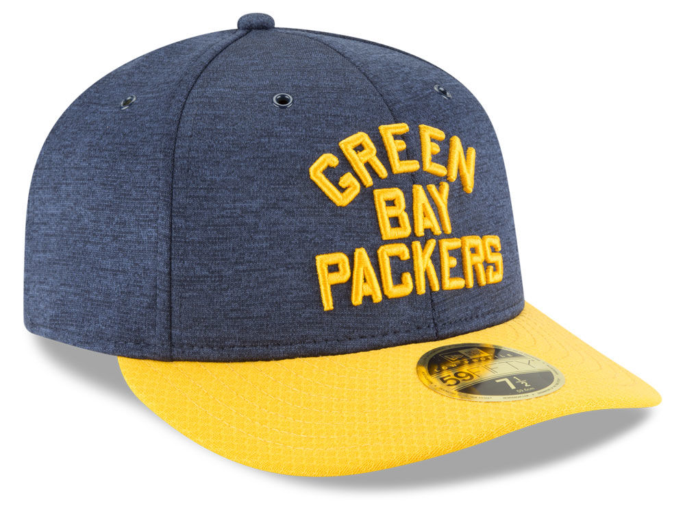 Green Bay Packers New Era 2018 Official NFL Sideline Low Profile Home  59FIFTY Cap  9ae1076cc6b