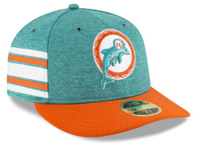 Miami Dolphins New Era 2018 Official NFL Sideline Low Profile Home 59FIFTY Cap