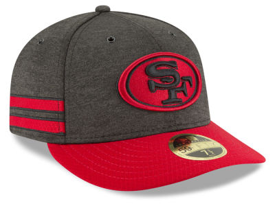 watch 8c8d5 347f4 San Francisco 49ers New Era 2018 Official NFL Sideline Low Profile Home  59FIFTY Cap