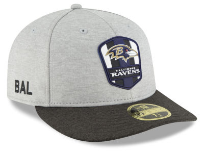 Baltimore Ravens New Era 2018 Official NFL Sideline Low Profile Road 59FIFTY Cap