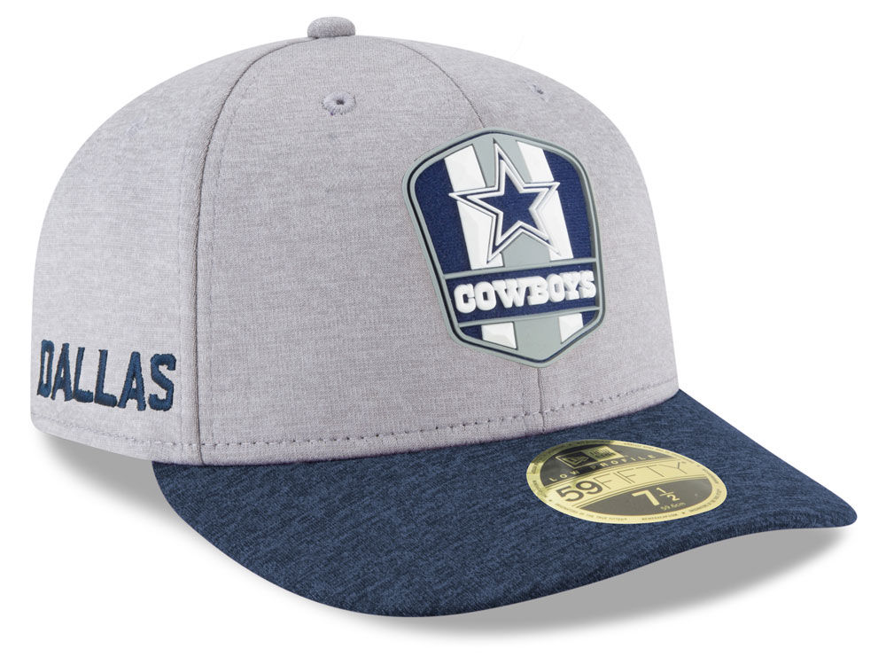 Dallas Cowboys New Era 2018 Official NFL Sideline Low Profile Road 59FIFTY  Cap  ee3b9b9dc193