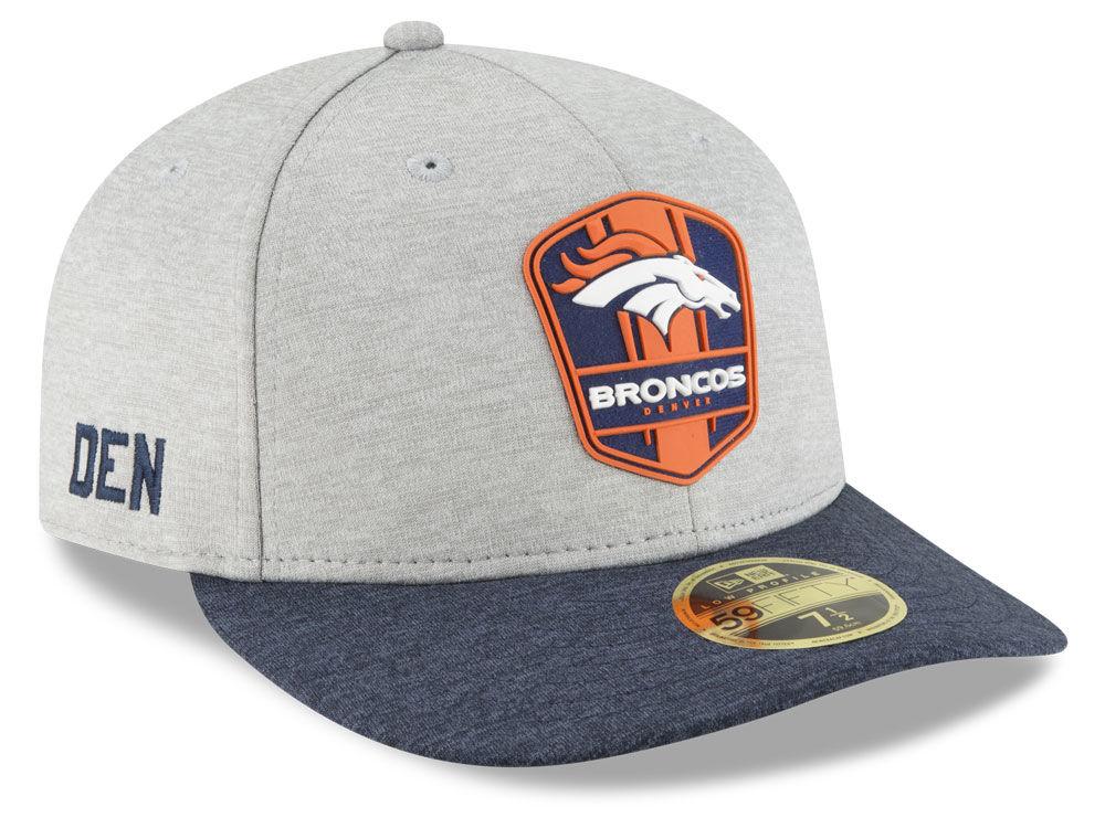 Denver Broncos New Era 2018 Official NFL Sideline Low Profile Road 59FIFTY  Cap  7c241490313