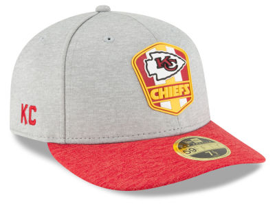 Kansas City Chiefs New Era 2018 Official NFL Sideline Low Profile Road 59FIFTY Cap