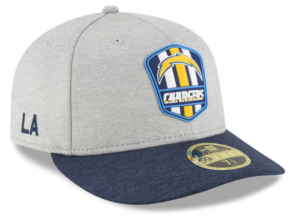 1c78e6ba8 Los Angeles Chargers New Era 2018 Official NFL Sideline Low Profile Road  59FIFTY Cap