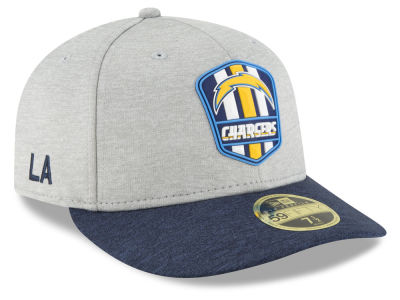 Los Angeles Chargers New Era 2018 Official NFL Sideline Low Profile Road 59FIFTY Cap