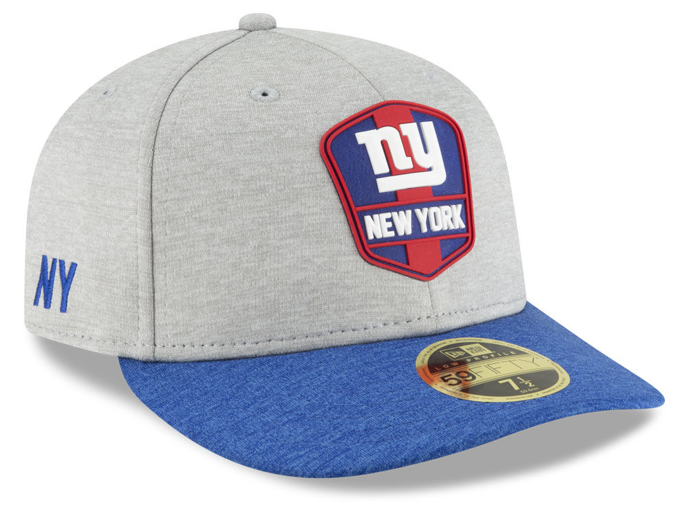 New York Giants New Era 2018 Official NFL Sideline Low Profile Road 59FIFTY  Cap  cbd473aff