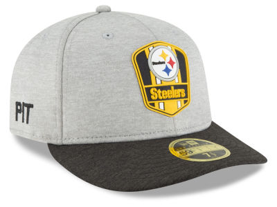 Pittsburgh Steelers New Era 2018 Official NFL Sideline Low Profile Road 59FIFTY Cap