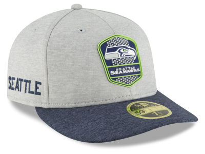 Seattle Seahawks New Era 2018 Official NFL Sideline Low Profile Road 59FIFTY Cap