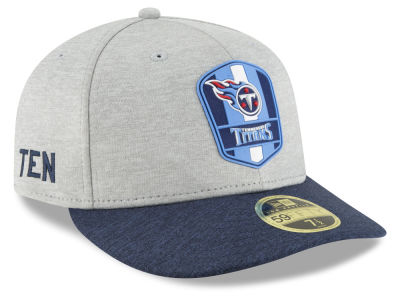 Tennessee Titans New Era 2018 Official NFL Sideline Low Profile Road 59FIFTY Cap