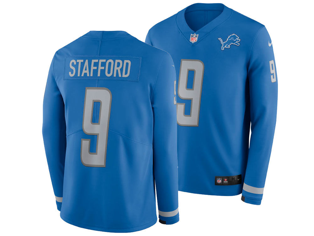 1cd110620 Detroit Lions MATTHEW STAFFORD Nike NFL Men s Therma Jersey