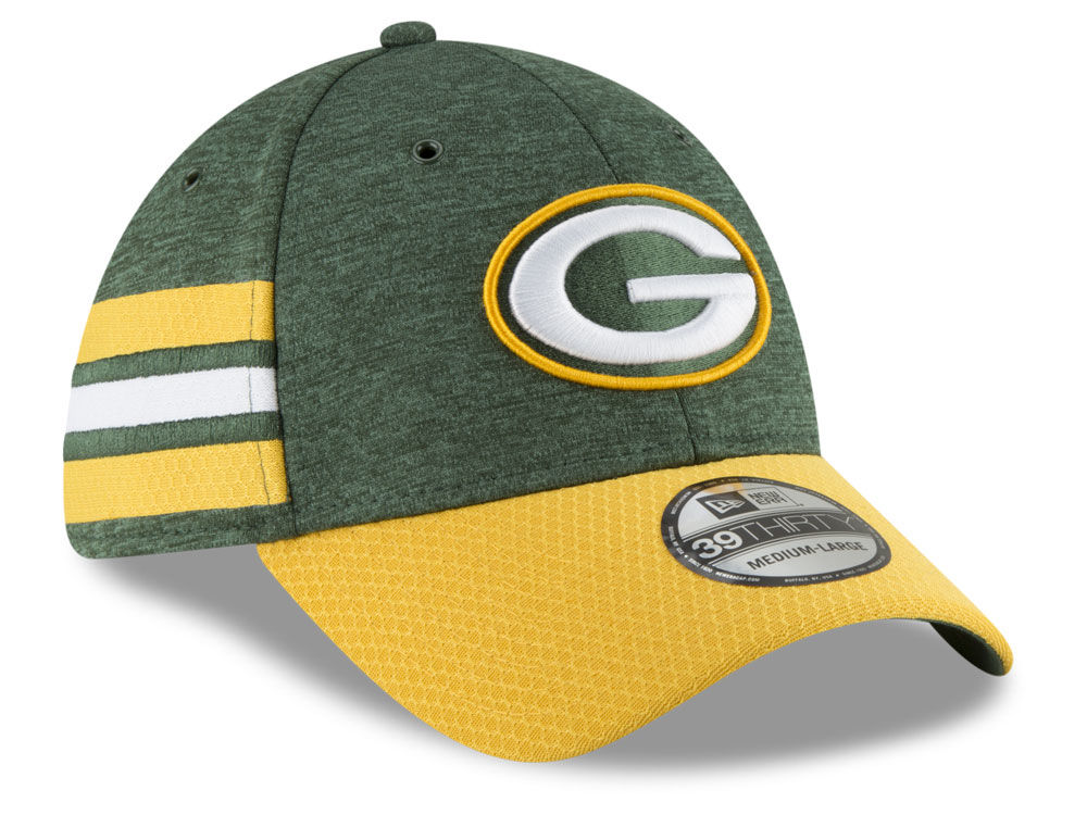Green Bay Packers New Era 2018 Official NFL Sideline Home 39THIRTY Cap  28e463f7d3e
