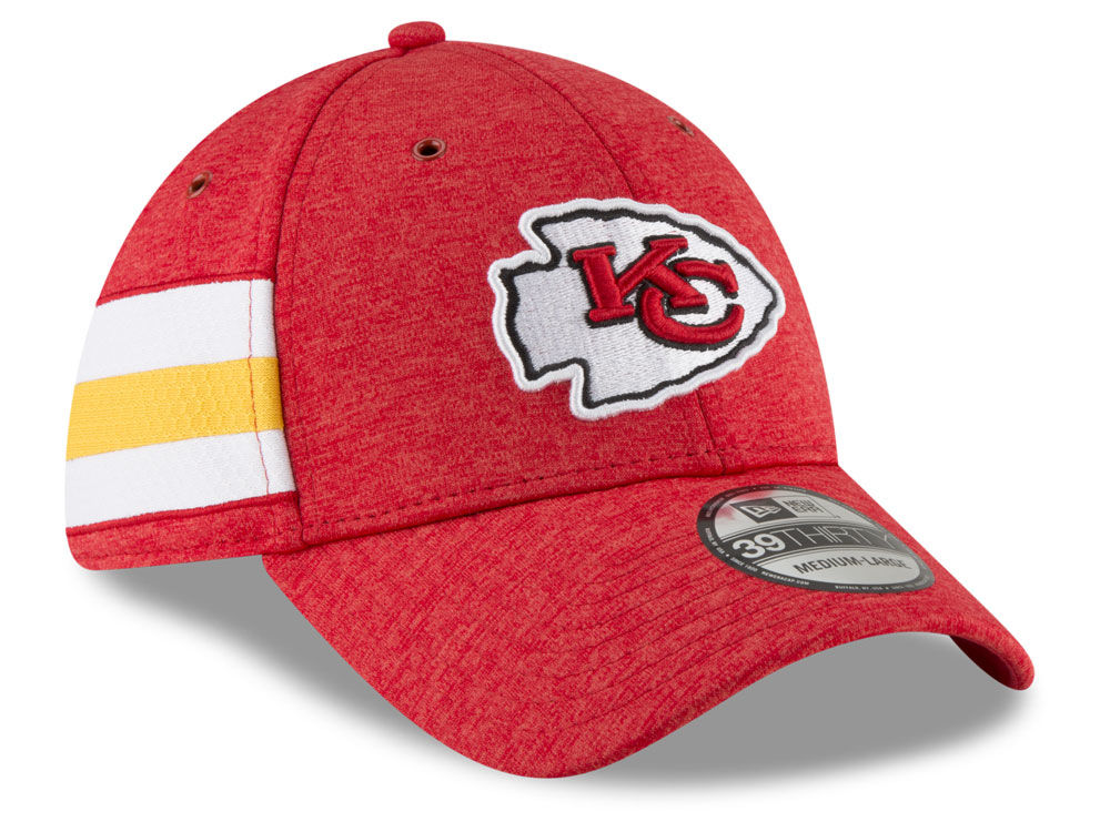 Kansas City Chiefs New Era 2018 Official NFL Sideline Home 39THIRTY Cap  b58c7206804