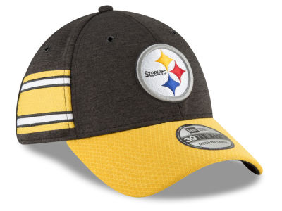 Pittsburgh Steelers New Era 2018 Official NFL Sideline Home 39THIRTY Cap 95b7d330b