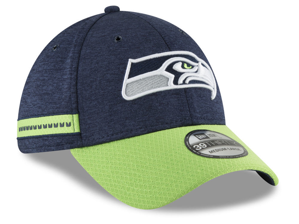 Seattle Seahawks New Era 2018 Official NFL Sideline Home 39THIRTY Cap  678b17c75ee
