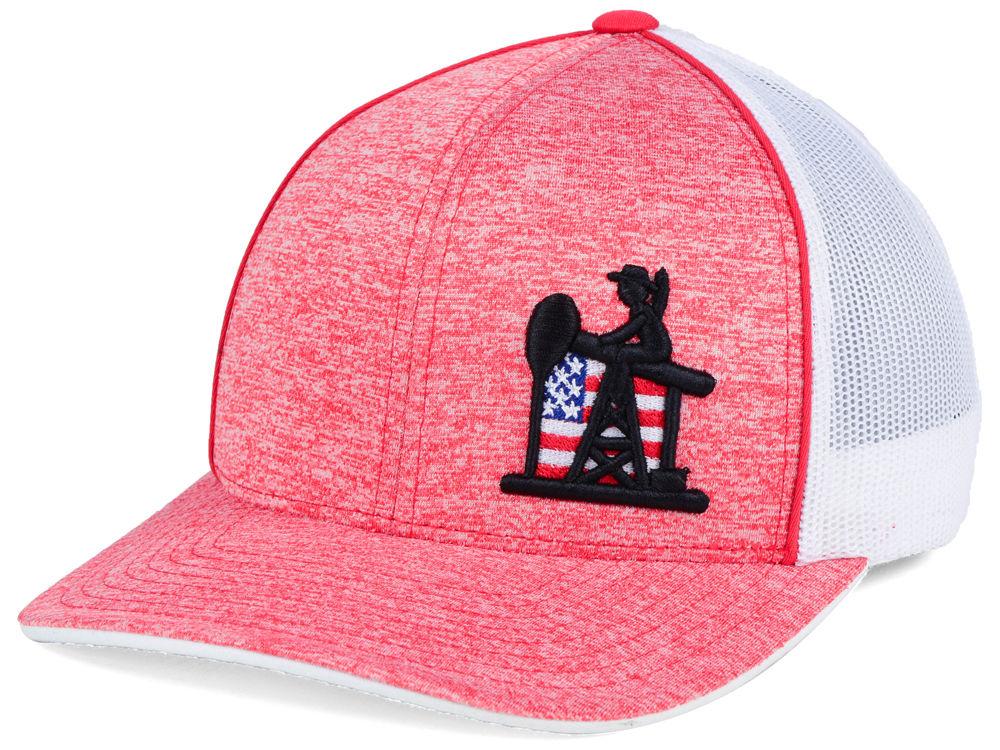 Oil Field USA Flag Oil Trucker Hat  f20cfe30aaec