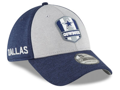 4c043f18a10 Dallas Cowboys New Era 2018 Official NFL Sideline Road 39THIRTY Cap
