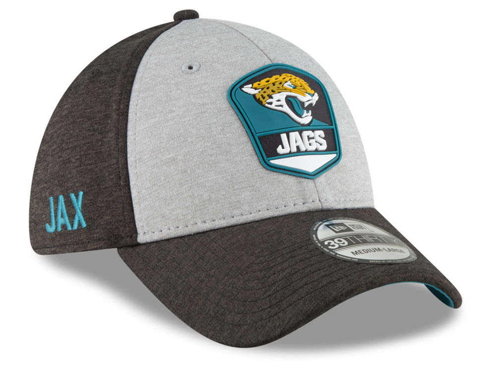 Jacksonville Jaguars New Era 2018 Official NFL Sideline Road 39THIRTY Cap  ea10e49ed974