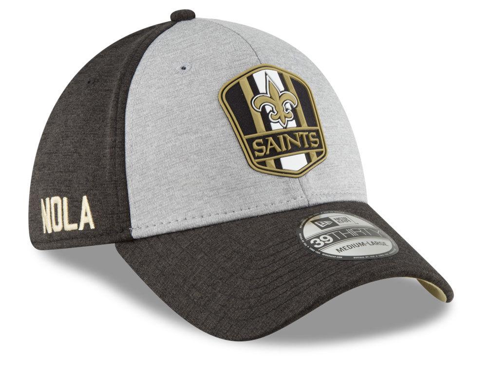 buy online 07fef 670c4 ... cheap new orleans saints new era 2018 official nfl sideline road  39thirty cap lids 71a33 c9e2c