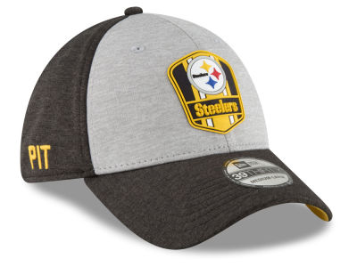 Pittsburgh Steelers New Era 2018 Official NFL Sideline Road 39THIRTY Cap 512630caf43
