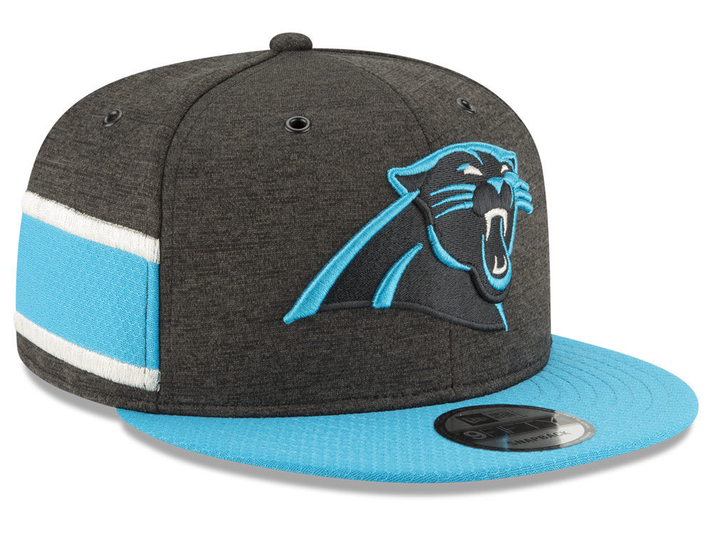 e21297a6901 Carolina Panthers New Era 2018 Official NFL Sideline Home 9FIFTY Snapback  Cap