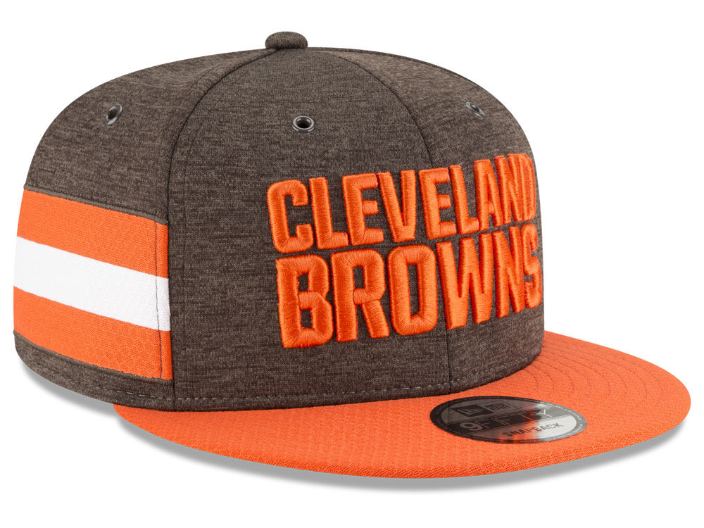 0563be6c9 Cleveland Browns New Era 2018 Official NFL Sideline Home 9FIFTY Snapback  Cap
