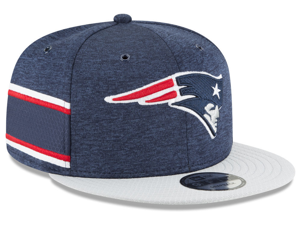 dc1b0a442e1 New England Patriots New Era 2018 Official NFL Sideline Home 9FIFTY Snapback  Cap