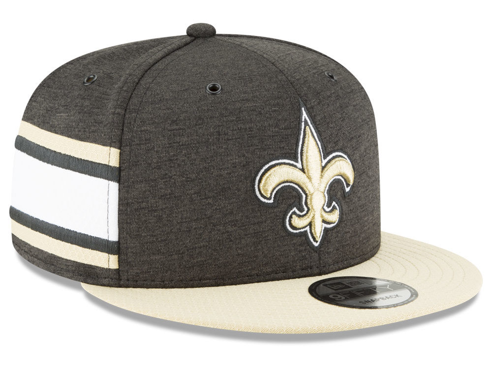 New Orleans Saints New Era 2018 Official NFL Sideline Home 9FIFTY Snapback  Cap  ac2853e283d4