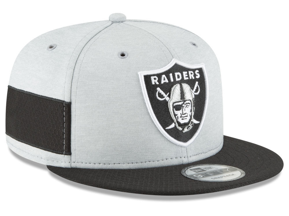 Oakland Raiders New Era 2018 Official NFL Sideline Home 9FIFTY Snapback Cap   22086b066691