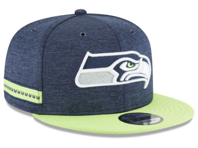 Seattle Seahawks New Era 2018 Official NFL Sideline Home 9FIFTY Snapback Cap