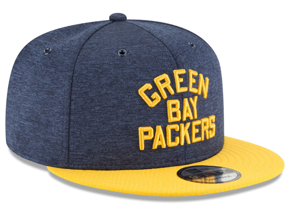 Green Bay Packers New Era 2018 Official NFL Sideline Home 9FIFTY Snapback  Cap  bf61da4bb