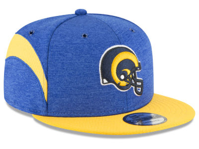 Los Angeles Rams New Era 2018 Official NFL Sideline Home 9FIFTY Snapback Cap