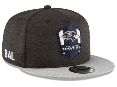 Baltimore Ravens New Era 2018 Official NFL Sideline Road 9FIFTY Snapback Cap