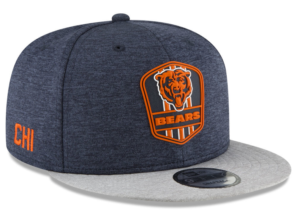 8a15c20b1 Chicago Bears New Era 2018 Official NFL Sideline Road 9FIFTY Snapback Cap