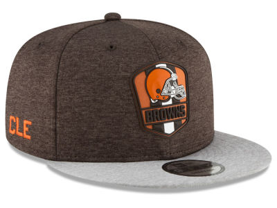 Cleveland Browns New Era 2018 Official NFL Sideline Road 9FIFTY Snapback Cap