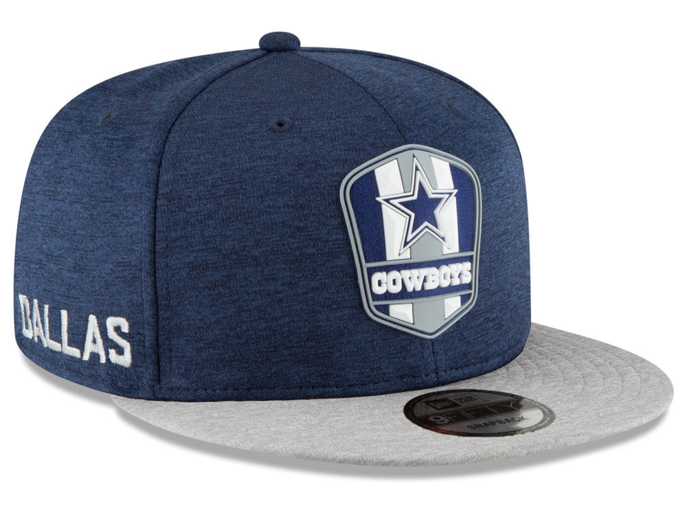 8a4505b7110 Dallas Cowboys New Era 2018 Official NFL Sideline Road 9FIFTY Snapback Cap