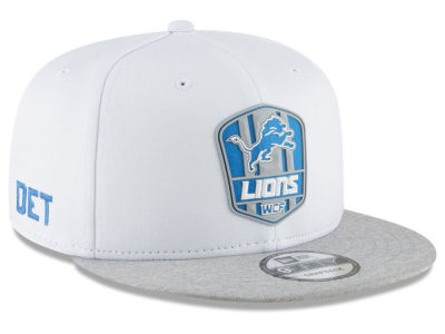 Detroit Lions New Era 2018 Official NFL Sideline Road 9FIFTY Snapback Cap