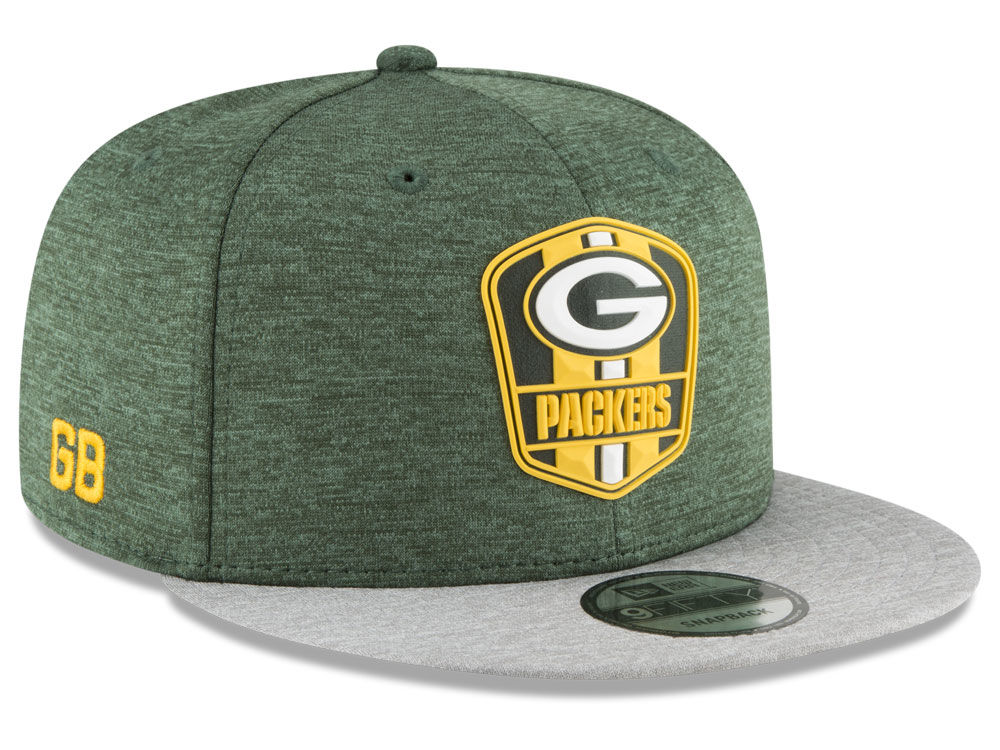 Green Bay Packers New Era 2018 Official NFL Sideline Road 9FIFTY Snapback  Cap  493820b34