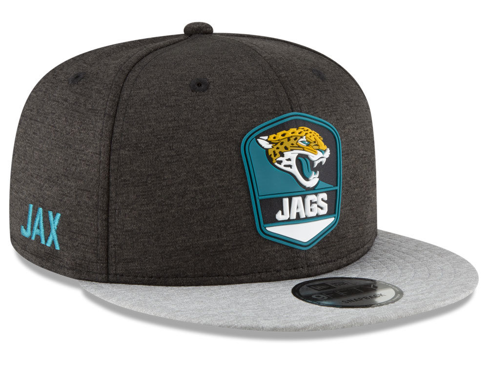 db3abc6ea Jacksonville Jaguars New Era 2018 Official NFL Sideline Road 9FIFTY  Snapback Cap