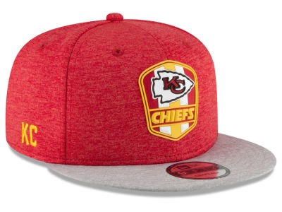 Kansas City Chiefs New Era 2018 Official NFL Sideline Road 9FIFTY Snapback Cap