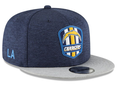 Los Angeles Chargers New Era 2018 Official NFL Sideline Road 9FIFTY Snapback Cap