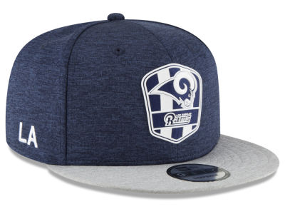 Los Angeles Rams New Era 2018 Official NFL Sideline Road 9FIFTY Snapback Cap