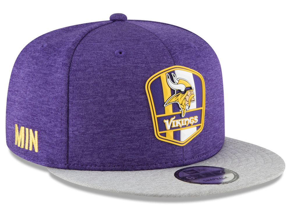 fc3e826b87f Minnesota Vikings New Era 2018 Official NFL Sideline Road 9FIFTY Snapback  Cap