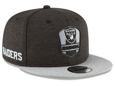 Oakland Raiders New Era 2018 Official NFL Sideline Road 9FIFTY Snapback Cap