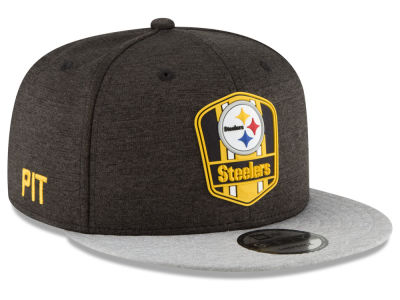 Pittsburgh Steelers New Era 2018 Official NFL Sideline Road 9FIFTY Snapback Cap