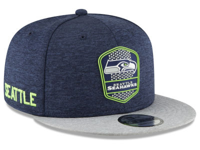 Seattle Seahawks New Era 2018 Official NFL Sideline Road 9FIFTY Snapback Cap