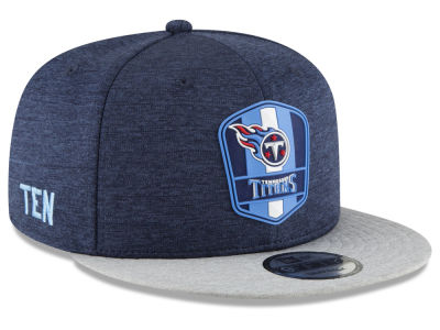 Tennessee Titans New Era 2018 Official NFL Sideline Road 9FIFTY Snapback Cap